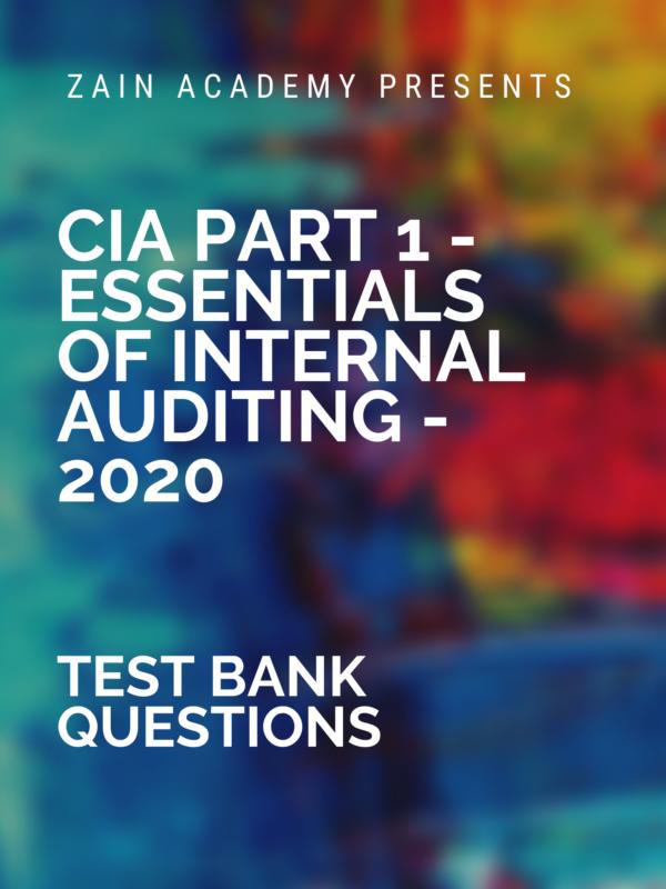 cia part 1 test bank questions 2020