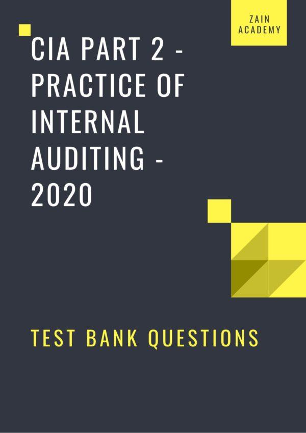cia part 2 test bank questions 2020