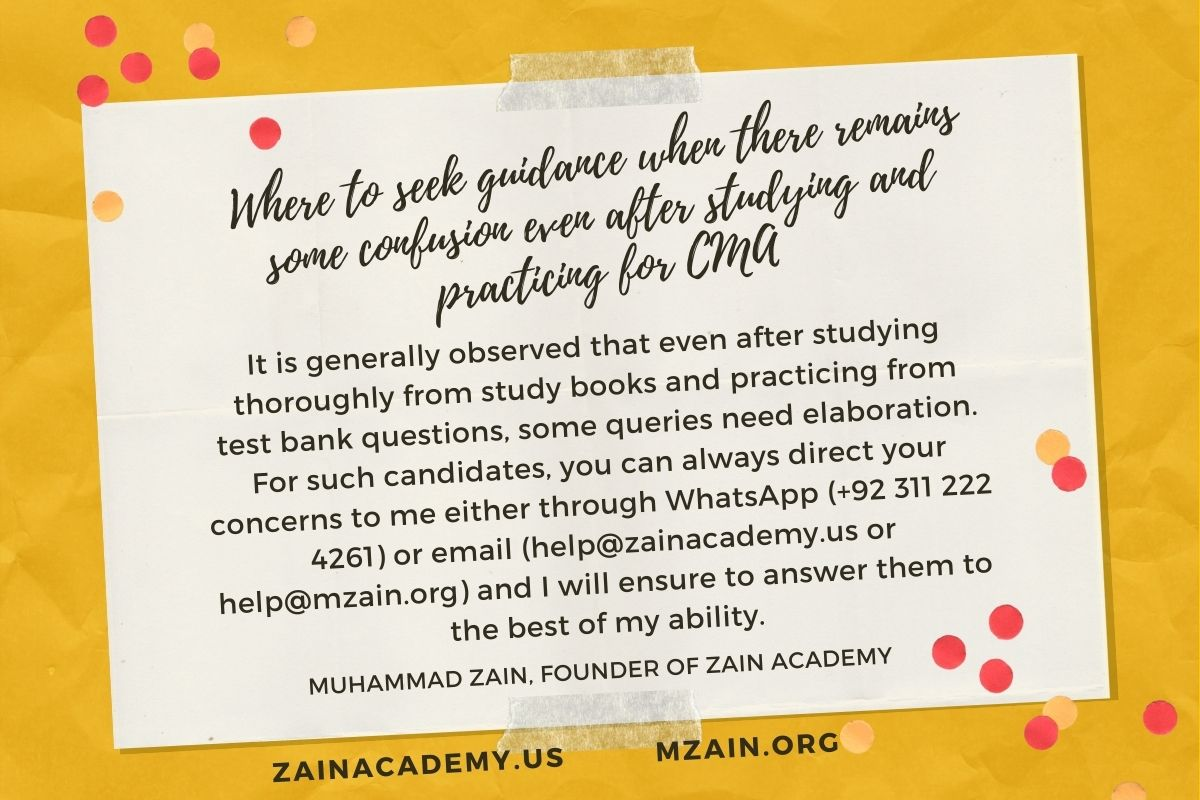 Where to seek guidance when there remains some confusion even after studying and practicing for CMA