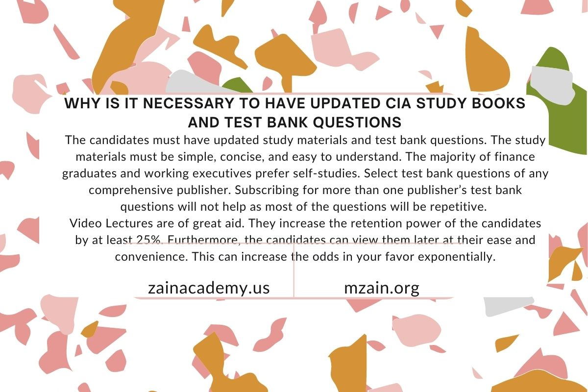 Why is it necessary to have updated CIA study books and test bank questions
