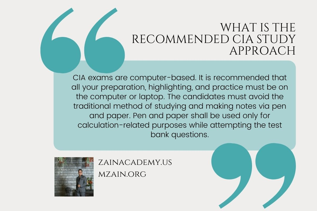 What is the recommended CIA study approach