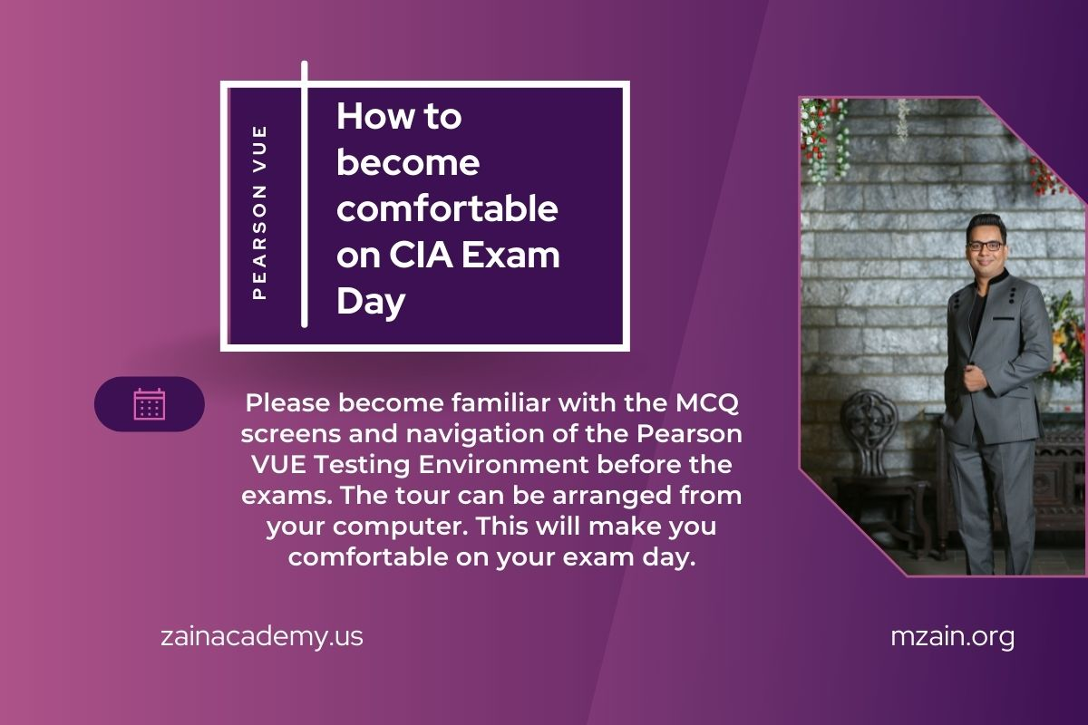How to become comfortable on CIA Exam Day